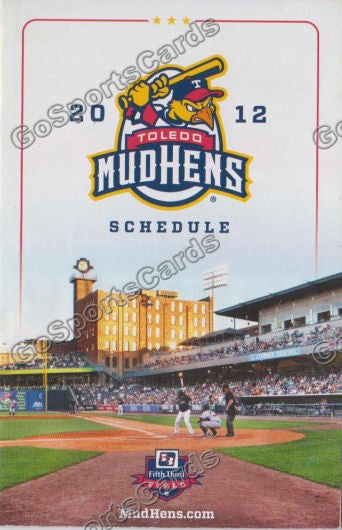 2012 Toledo MudHens Pocket Schedule