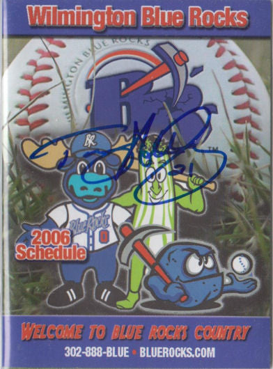Tommy Hottovy 2006 Wilmington Blue Rocks Pocket Schedule (Autograph)