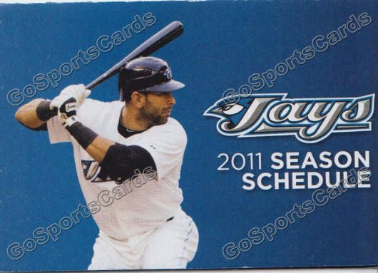 2011 Toronto Blue Jays Pocket Schedule (Jose Bautista)