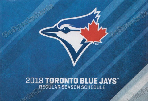 2018 Toronto Blue Jays Pocket Schedule