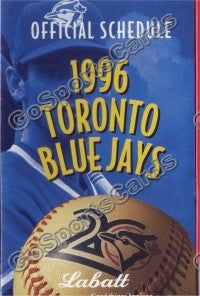 1996 Toronto Blue Jays Pocket Schedule