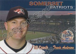 2011 Somerset Patriots Travis Anderson