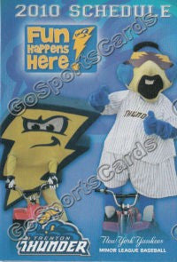 2010 Trenton Thunder Pocket Schedule