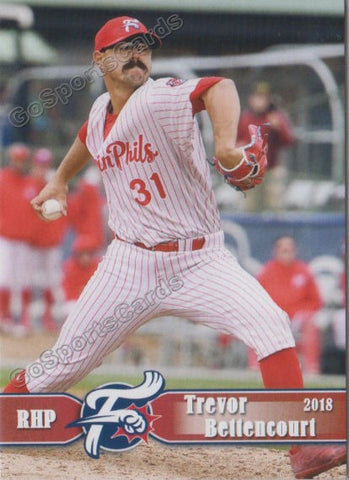 2018 Reading Fightin Phils Trevor Bettencourt