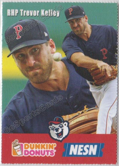 2018 Pawtucket Red Sox Dunkin Donuts SGA Trevor Kelley
