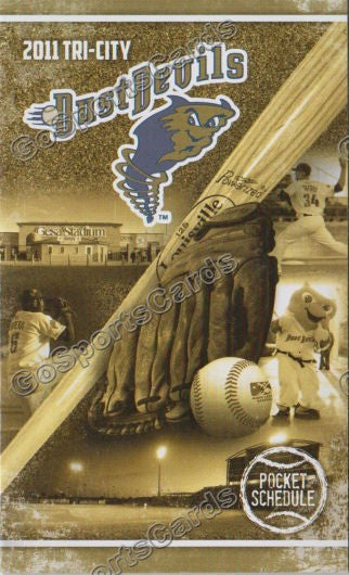 2011 Tri City DustDevils Pocket Schedule