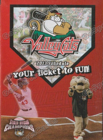 2013 Tri City Valleycats Pocket Schedule