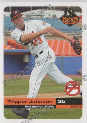2003 Frederick Keys SGA Tripper Johnson