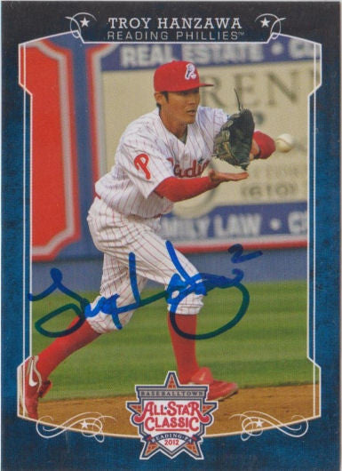 Troy Hanzawa 2012 Eastern League All Star (Autograph)