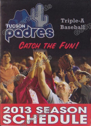 2013 Tucson Padres Pocket Schedule