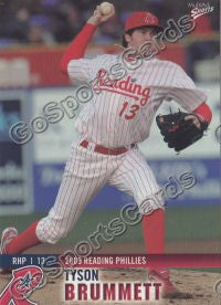 2009 Reading Phillies Tyson Brummett