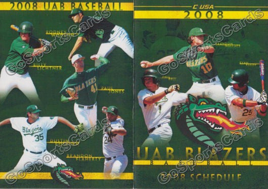 2008 UAB Blazers Pocket Schedule (Ryan Keedy)