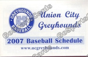 2007 Union City Greyhounds Pocket Schedule