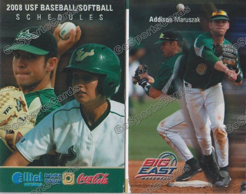 Addison Maruszak 2008 USF South Florida Pocket Schedule