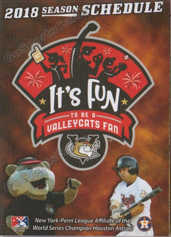 2018 Tri City ValleyCats Pocket Schedule