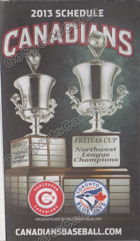 2013 Vancouver Canadians Pocket Schedule