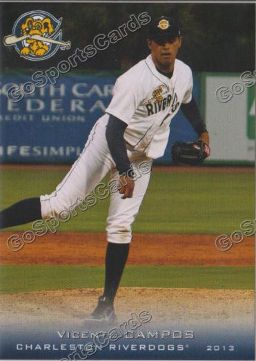 2013 Charleston RiverDogs Jose Vicente Campos