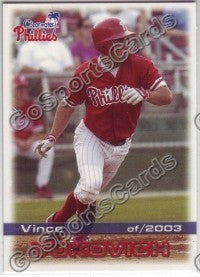 2003 Clearwater Phillies Vince Vukovich