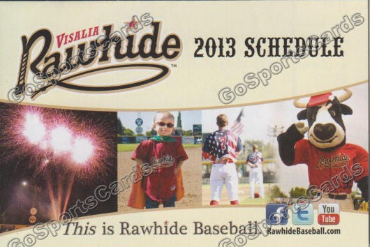 2013 Visalia Rawhide Pocket Schedule