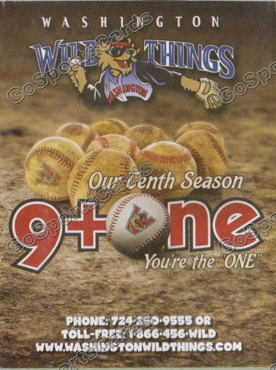 2011 Washington Wild Things Pocket Schedule
