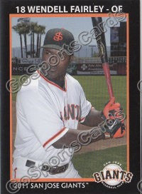 2011 San Jose Giants Wendell Fairley