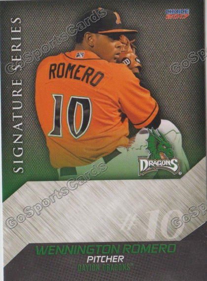 2017 Dayton Dragons Wennington Romero