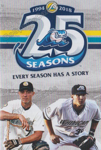 2018 West Michigan Whitecaps Pocket Schedule (25 Seasons - Nick Castellanos)