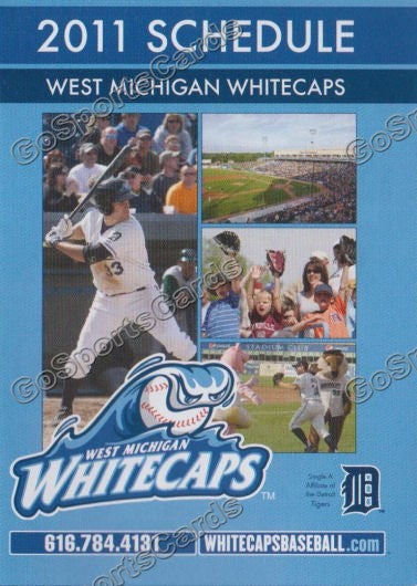 2011 West Michigan Whitecaps Pocket Schedule
