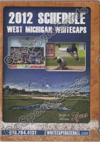 2012 West Michigan Whitecaps Pocket Schedule