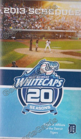 2013 West Michigan Whitecaps Pocket Schedule (20 seasons)