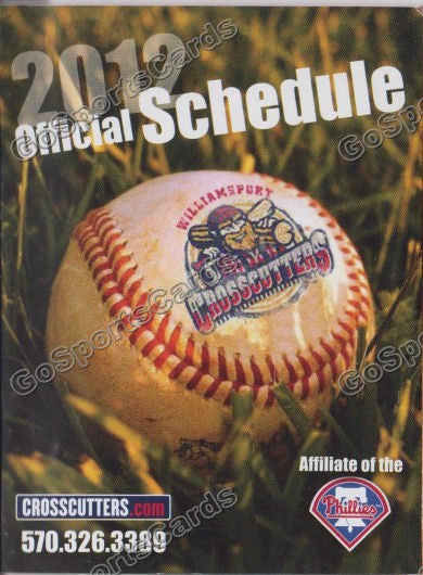 2012 Williamsport Crosscutters Pocket Schedule