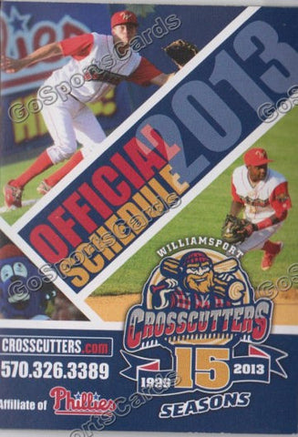 2013 Williamsport Crosscutters Pocket Schedule (15 Seasons)
