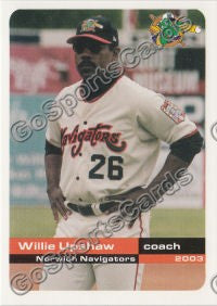 2003 Norwich Navigators Willie Upshaw