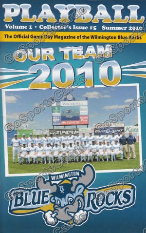 2010 Wilmington Blue Rocks Program (SGA) Hosmer Myers Perez