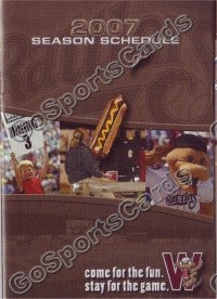 2007 Wisconsin Timber Rattlers Pocket Schedule