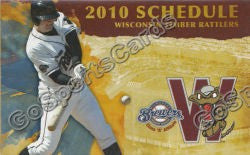 2010 Wisconsin Timber Rattlers Pocket Schedule
