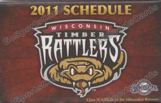 2011 Wisconsin Timber Rattlers Pocket Schedule
