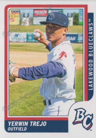2019 Lakewood BlueClaws Yerwin Trejo