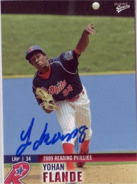 Yohan Flande 2009 Reading Phillies (Autograph)