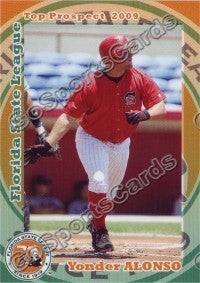 2009 Florida State League Top Prospects Yonder Alonso