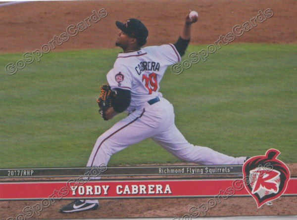 2017 Richmond Flying Squirrels Yordy Cabrera
