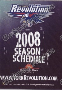 2008 York Revolution Pocket Schedule