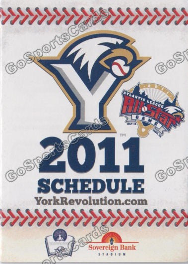 2011 York Revolution Pocket Schedule