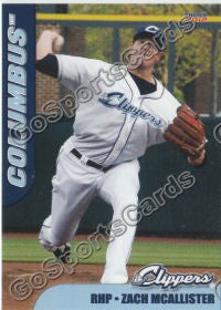 2012 Columbus Clippers Zach McAllister