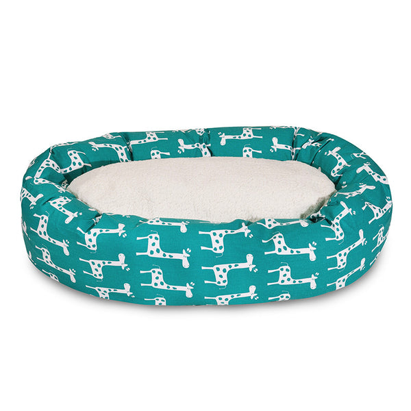 Wonderful Bagel Bed Giraffe - Turquoise - Red Rock Pets KA88