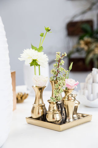 Gold Square Chic Vase