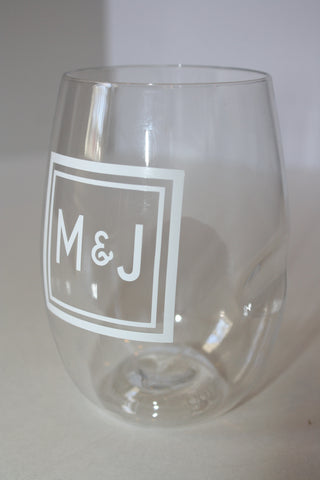Personalized Shatterproof Stemless Wine Drinkware, Set of 4