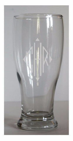 Personalized Etched Pilsner Glasses, Set of 4