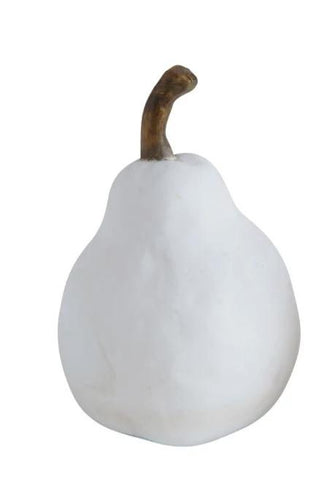 White Resin Pear, 2 Sizes