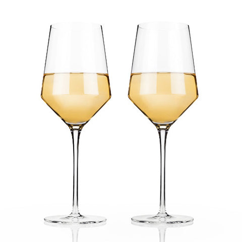 Crystal Chardonnay Wine Glasses (Set of 2)